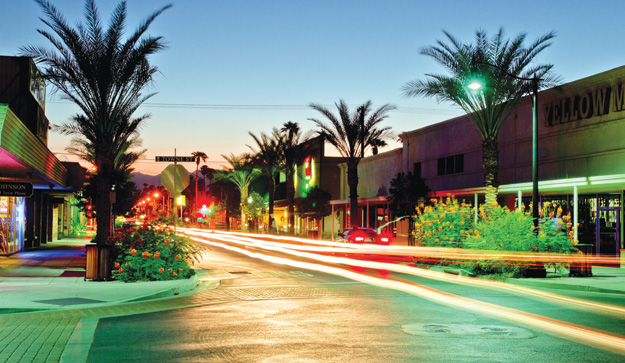 A street in Indio