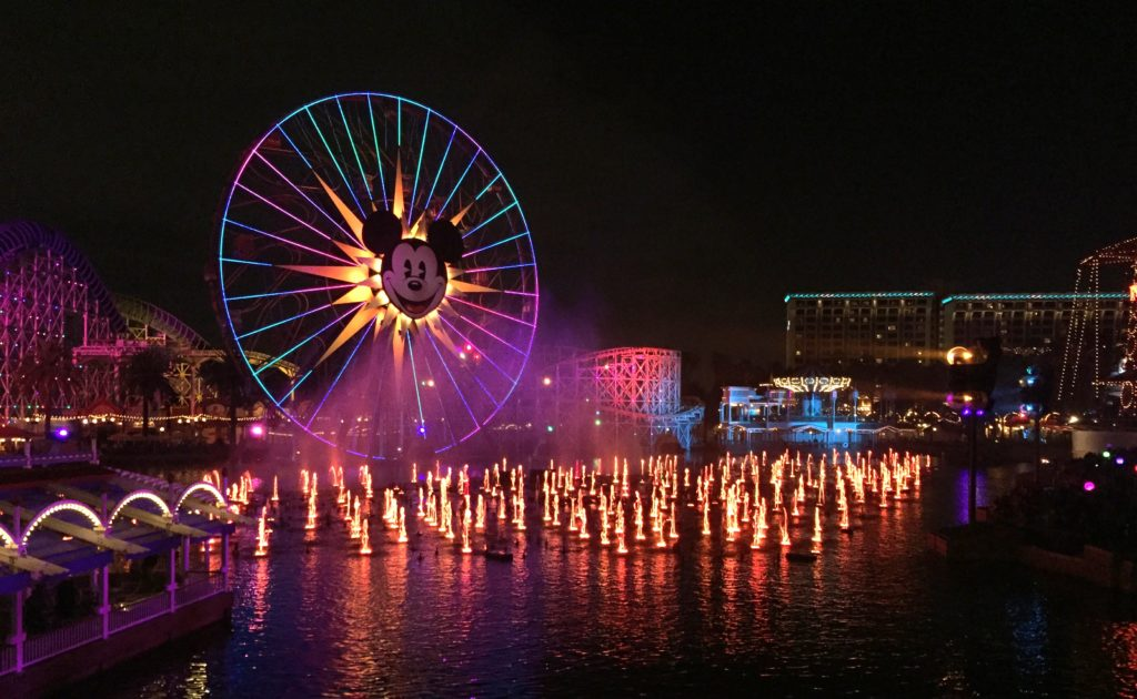 Disneyland Park at night